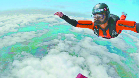 25-yr-old Ghosh attains rare feat by skydiving from 14,000 ft