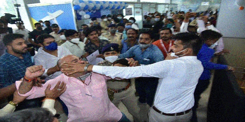 BJP workers airline staff