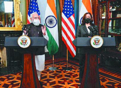Modi, Kamala agree to boost Indo-US strategic ties