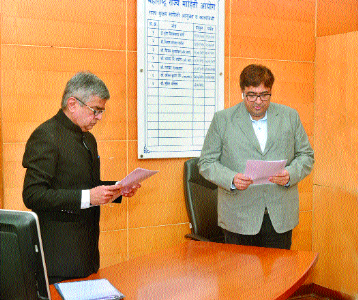 Rahul Pande sworn in as State Information Commissioner